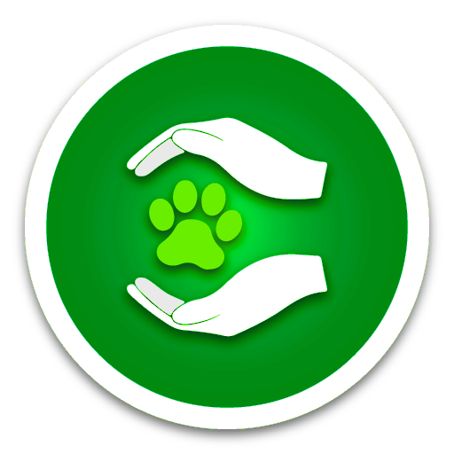 6.Animal-Shelter Blue and neon Paw Green Button