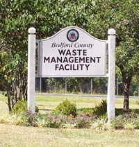 Waste Management Facility sign