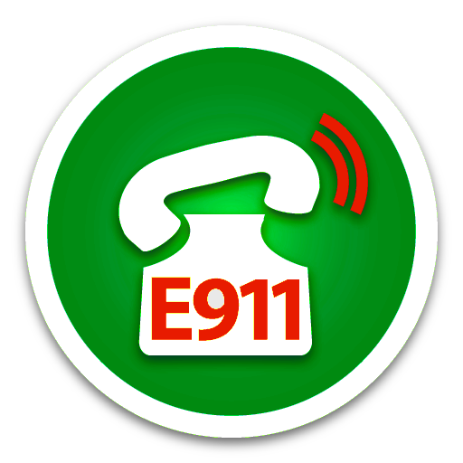Emergency E911 Dispatch Green button