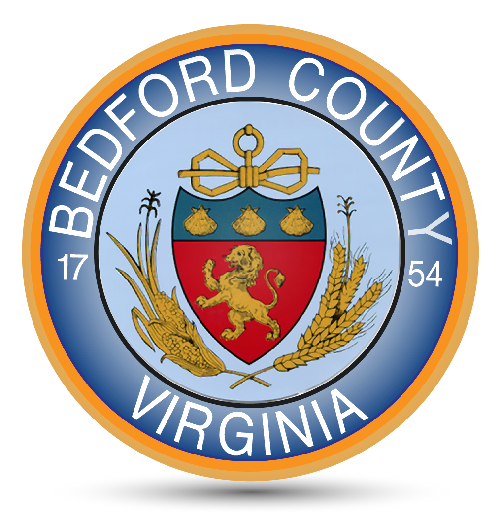 Bedford County Seal 3d White Button 01