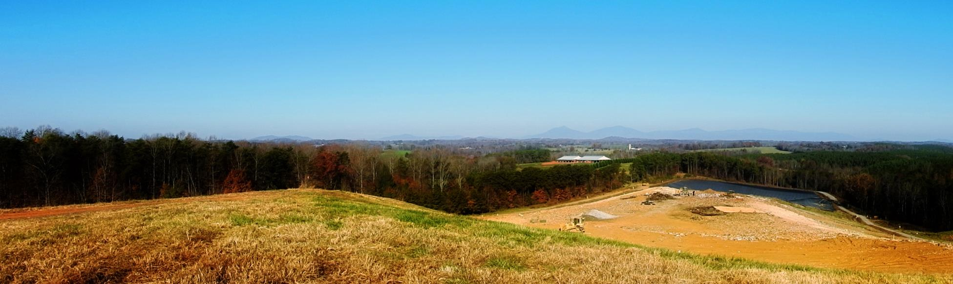 Panorama from the Top of the Closed Landfill and the Peaks