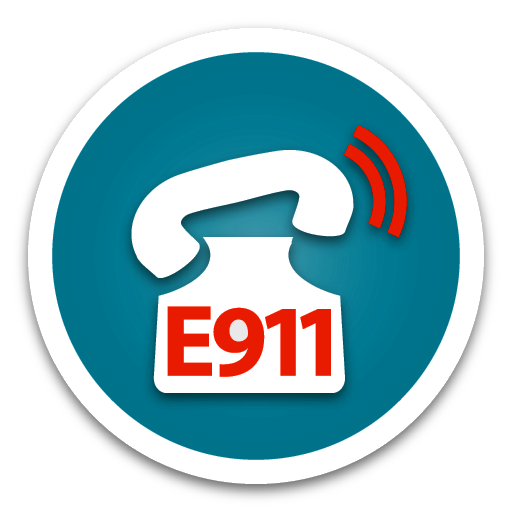 Emergency E911 Dispatch Blue button