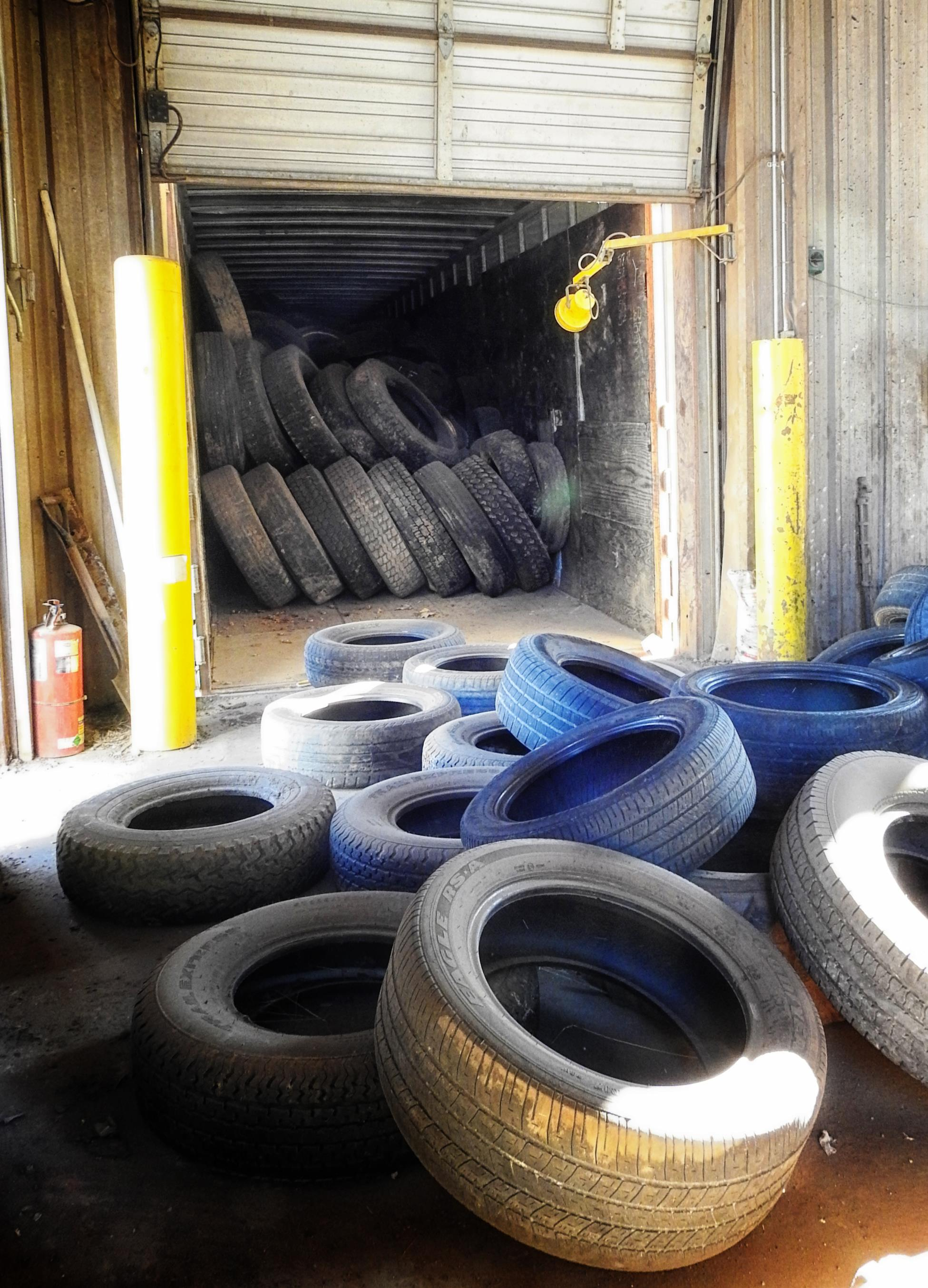 Tires - Stacked for Shipping